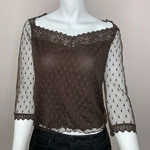 Ideology lace blouse with 1/4 sleeves